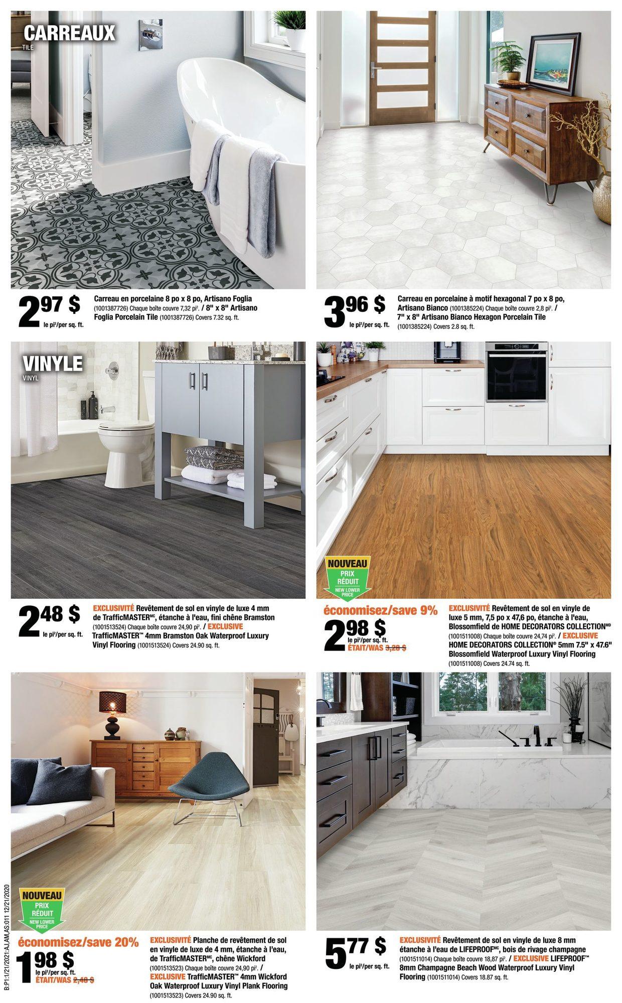 Circulaire Home Depot du 21 au 27 Janvier 2021